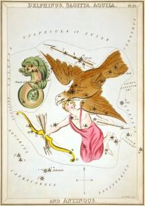 Sidney_Hall_-_Urania's_Mirror_-_Delphinus,_Sagitta,_Aquila,_and_Antinous (5)