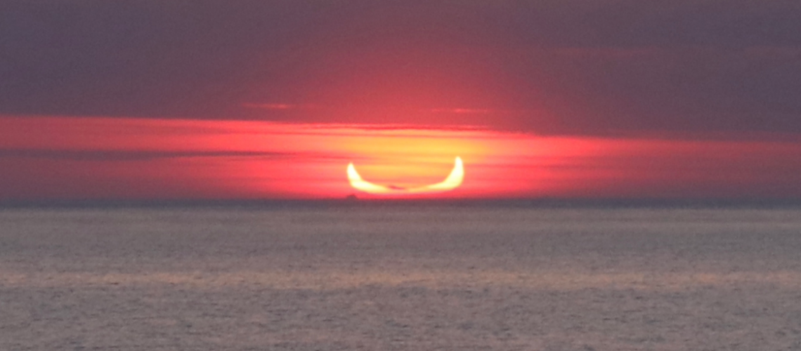 NOVAC eclipse chaser Lloyd Franklin captured this stunning image of the Ring of Fire eclipse on 10 June!